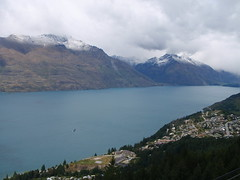 Lake Wakatipu, Queenstown, Tahuna (Seamoor) Tags: ocean new camping cloud mountain lake fish snow water rain rock fog creek trekking river airplane island flying jump fishing stream desert flood hiking south glacier formation zealand bungy bungee geology van glider camper tramping 2009 touring campervan 2010 sailplane