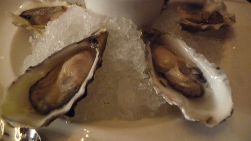 Hog Island Sweetwater Oysters w/ dill sauce at The Breslin