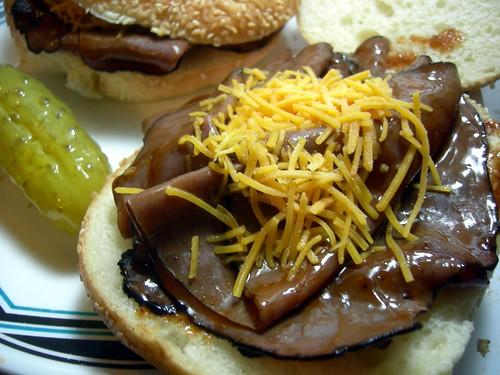 """""""BBQ"""" beef sandwiches"""