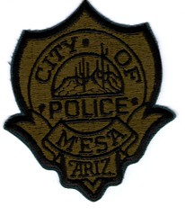 """Mesa Police Subdued (Old Style) (bloo_96 """"Daniel DeSart"""") Tags: team police special cop law enforcement sheriff patch emergency federal tactics swat weapons response unit srt ert subdued"""