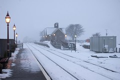 Lit station at Ribblehead