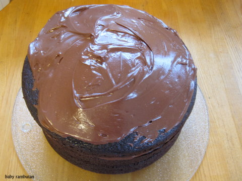 tempting chocolate cake