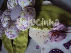 Detalhes da Guirlanda da Mariah Clara. (Velucinha arte em pano) Tags: flores nascimento matrnidade guirlandaparamaternidade
