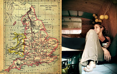.off we go. (maruan's travel [a bit away.. vEEEry busy]) Tags: travelling van londoncalling backpackers oldmap