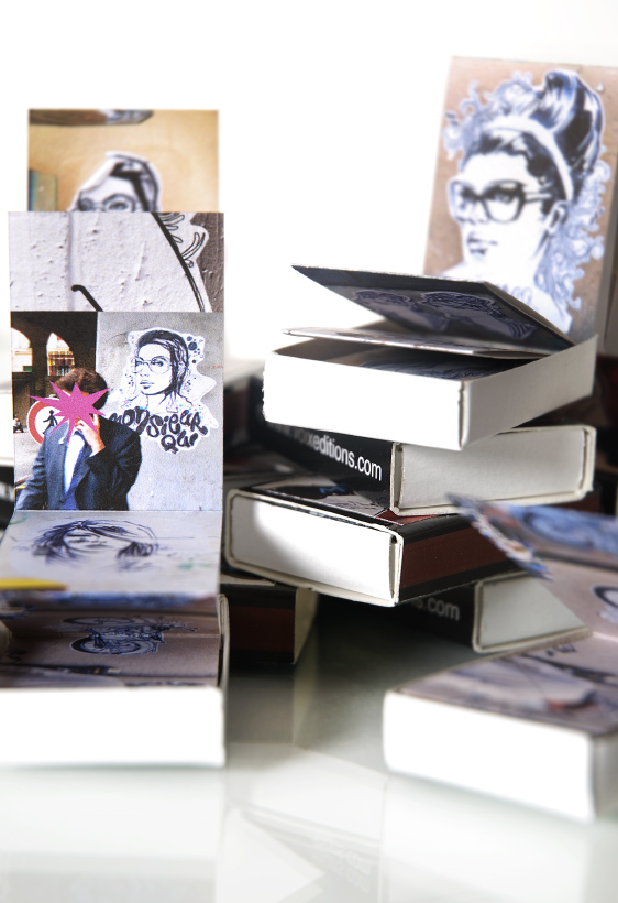 DIY match box lookbooks by illustrator Monsieur Qui