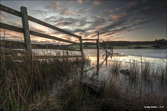 Take the Lead (CU-Photography) Tags: ice rock sunrise fence scotland frozen craig loch lead usher kilmacolm knapps inverclyde renfrewshire