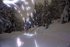 Raining Laser Light (Good Ol' Charlie Brown) Tags: snow tahoe laketahoe sethhall