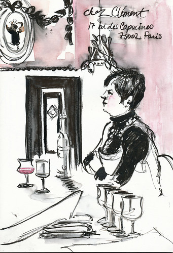 With brushpens, Chez Clément, Paris