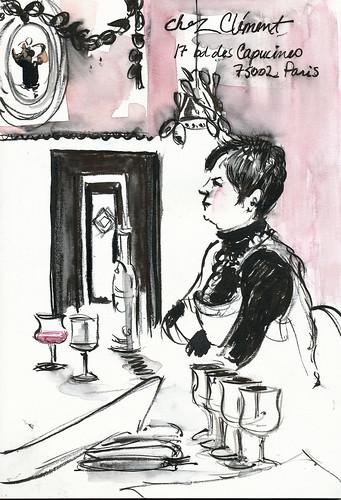 With brushpens, Chez Clément, Paris