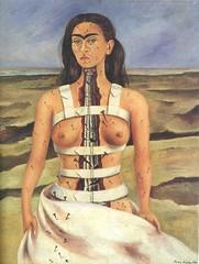Frida Kahlo - Self-portrait, The broken column, 1944