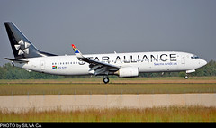 SAA Star Alliance B737 at O.R.Tambo Int'l