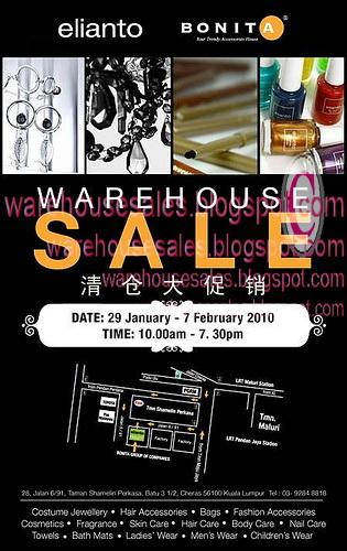 29 Jan - 07 Feb: Bonita & Elianto Warehouse Sale