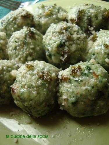 gnocchi di pane, ricotta e spinaci