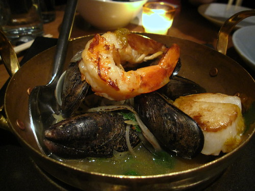 Thai Seafood Bouillabaisse with Tiger Prawns, Scallops, and Mussels