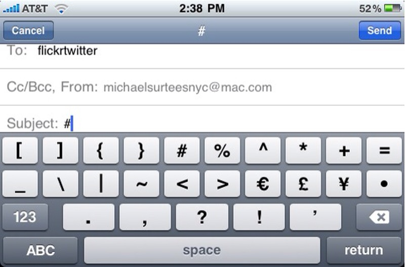why does it take three clicks to creat a hashtag on an iPhone keyboard?
