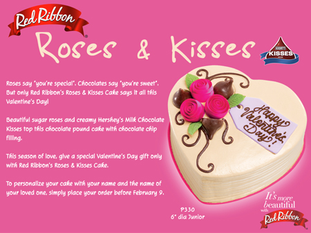 Roses and Kisses Cake from Red Ribbon