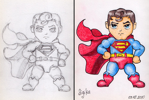 Superman Chibi Drawing Superman Chibi