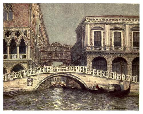 004-Puente de Los Suspiros y puente de La Paja-Venice – 1904-Dorothy Menpes
