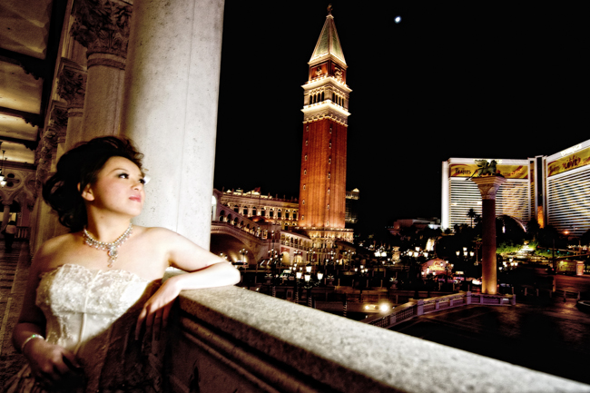 venetian hotel wedding photo