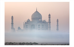 Out Of The Mist (Satyaki Basu) Tags: travel india mist up canon photography eos dawn dr taj mahal 1750 tamron pradesh uttar basu 5photosaday satyaki 450d earthasia gettyimagesmiddleeast