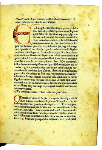 Incipit title in Cicero, Marcus Tullius [pseudo-]: Rhetorica ad C. Herennium