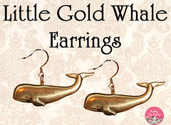 Little Gold Whale Earrings