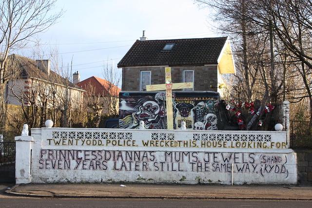 Protest house, Glasgow, Scotland by ianmcmonagle