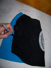 How to make a pet shirt from a baby shirt 4
