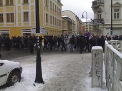 Nazi-Spontandemo in der Hechtstraße