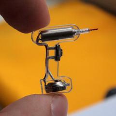 tinyDrill generation _yellow (s8) Tags: miniature diy acrylic handmade battery jewelry tiny button motor tool pendant drill konstantin s8 bibiki leonenko tinydrill