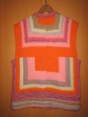 Striped Vest Back (Foksik) Tags: knitting stripes leftovers vest