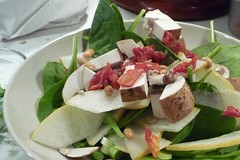 Asian Pear Spinach Salad