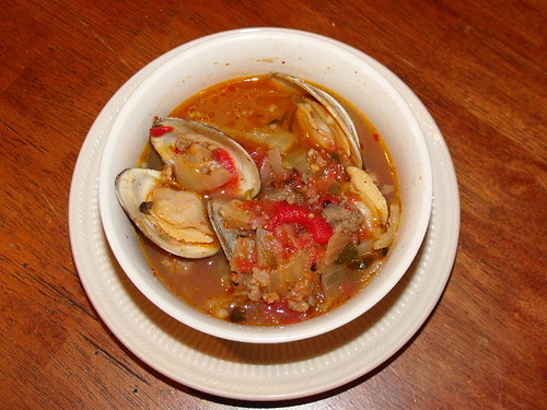 Clams and Fennel with Hot Italian Sausage 2010 0214 (recipe included)