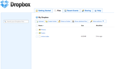 Dropbox - Синхронизация данных