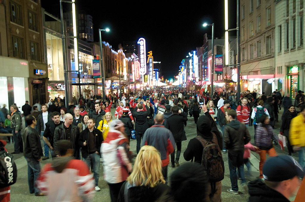 Crowded Granville Street