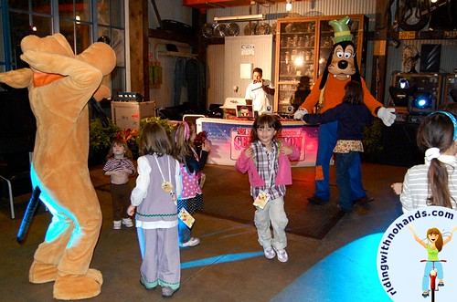 dancing with Pluto and Goofy