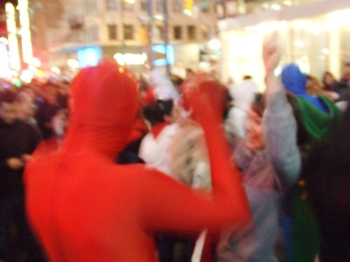 Dancing on Granville Street During Vancouver 2010 winter Olympics