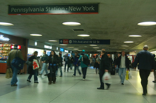 Penn Station Upper Level - exit to 7th ave