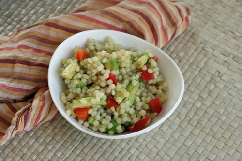 Avocado and Red Pepper Israeli Couscous Recipe