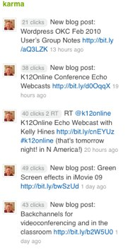 Twitter Karma in the Feedly Buzz Feed