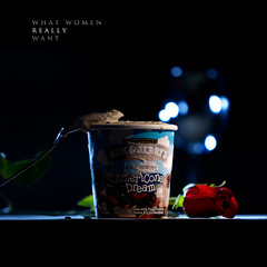 what women really want (photonyx) Tags: red glass rose mess dof bokeh spoon drop explore icecream tuesday 365 frontpage tabletop day54 benandjerry photonyx