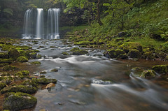 Sgwd Yr Eira (antonyspencer) Tags: park uk autumn blur fall wales river landscape waterfall rocks long exposure spray national spencer brecon beacons antony cascade yr eira powys sgwd 1635mkii 5dmkii