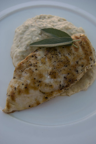 chicken and cannelini bean puree2