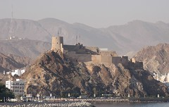 Mutrah Fort, Oman (Gerry Hill) Tags: cruise mountains landscape persian gulf fort arab oman portuguese seas brilliance mutrah