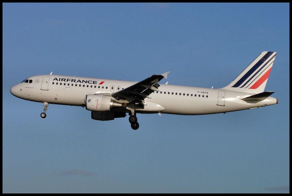Airbus A-320, F-HEPA, Air France.