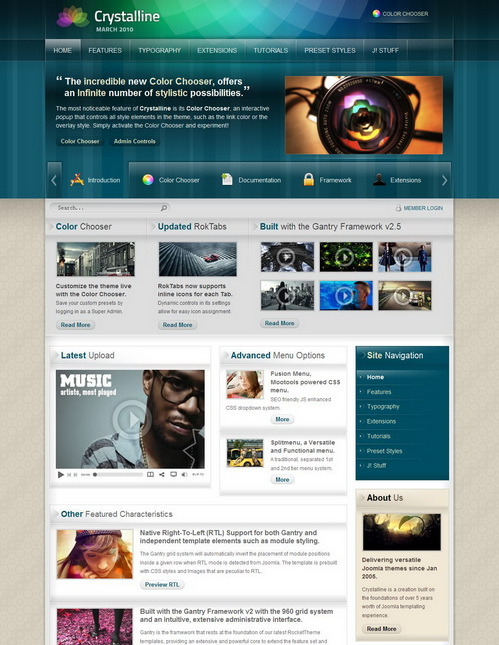 Crystalline v1.5.3 Update � RocketTheme Template