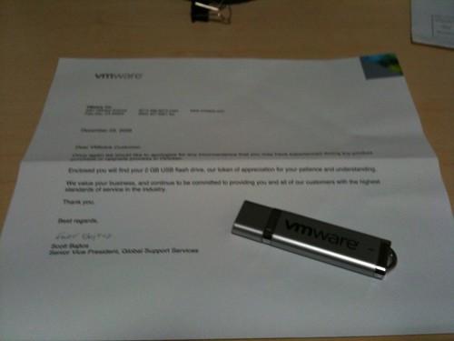 VMWare sent me a present. #fb
