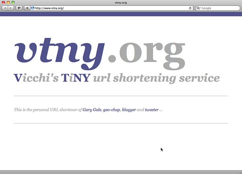 The URL shortener at vtny.org goes live