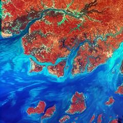Satellite photo of Guinea-Bissau.