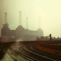 battersea (evatxu) Tags: london train rail explore battersea frontpage powerstation evatxu
